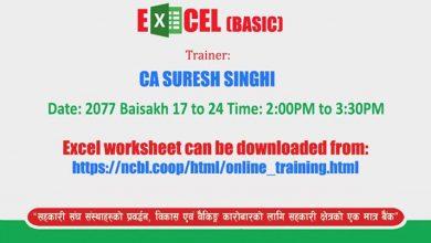 Photo of Online Basic Excel तालीमको शुरुवात